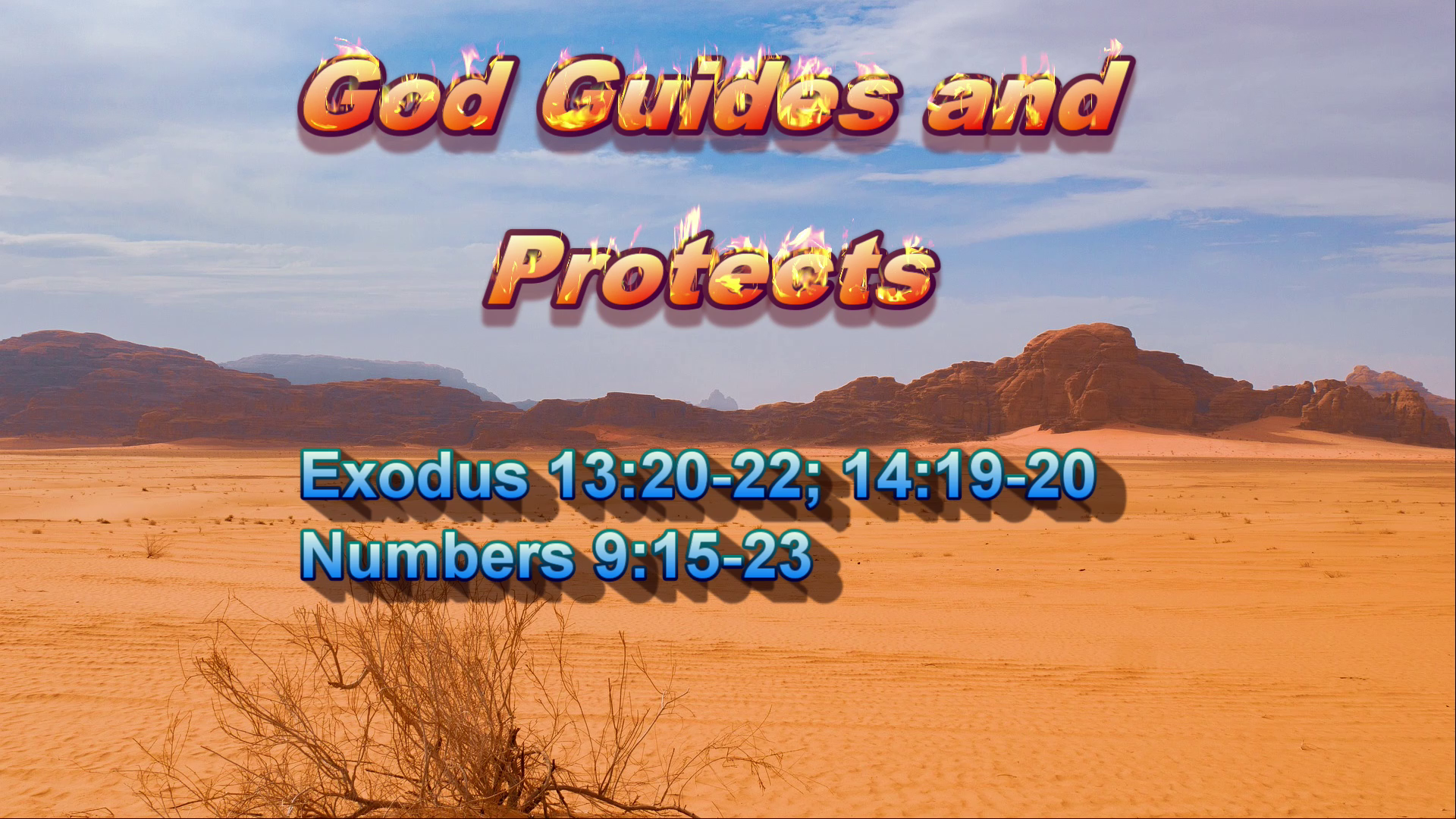 God Guides and Protects Image